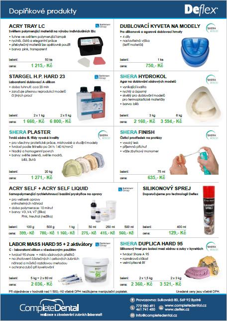 Doplňkové produkty k Deflexu